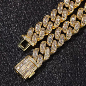 MP Ladder Cuba CZ diamond 13mm necklace
