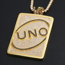 Load image into Gallery viewer, MP UNO iced CZ diamond pendant