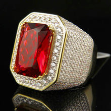 Load image into Gallery viewer, MP Ruby Octagon iced CZ diamond pendant