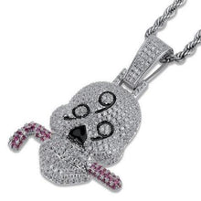 Load image into Gallery viewer, MP 666 bones iced CZ diamond pendant