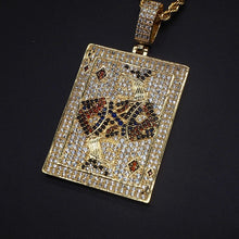 Load image into Gallery viewer, MP Cards iced out diamond pendant