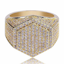 Load image into Gallery viewer, MP Men style Octagon iced CZ diamond ring