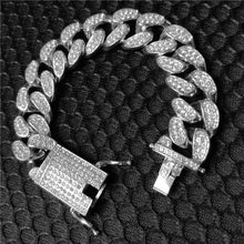 Load image into Gallery viewer, MP Iced CZ diamond Cuban link 20mm bracelet