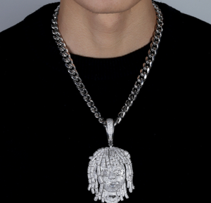 MP Lil pump iced CZ diamond pendant