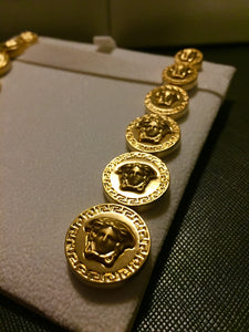 Versace 3D medusa nugget earrings