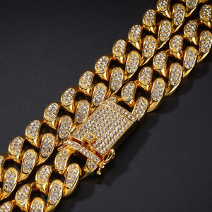 MP Iced out CZ diamond Cuban link 20mm necklace