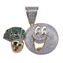 Load image into Gallery viewer, MP Monopoly iced out CZ diamond pendant & necklace