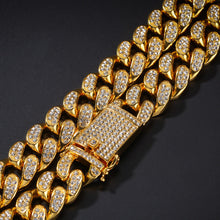 Load image into Gallery viewer, MP Iced out CZ diamond Cuban link 18mm bracelet