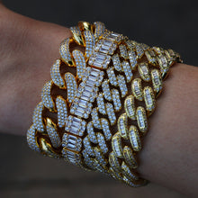 Load image into Gallery viewer, MP Ladder Cuba iced CZ diamond 13mm bracelet