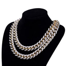 Load image into Gallery viewer, MP Iced CZ diamond Cuban link 18mm necklace