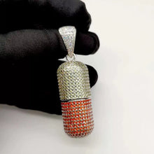 Load image into Gallery viewer, MP Colour Pills iced out CZ diamond pendant & necklace