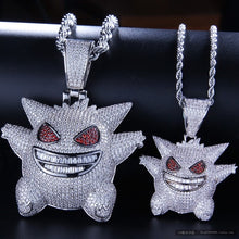 Load image into Gallery viewer, MP Pokemon Mega Gengar iced CZ diamond pendant