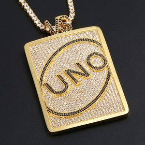MP UNO iced CZ diamond pendant