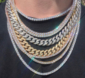 MP Iced out CZ diamond Cuban link 18mm necklace