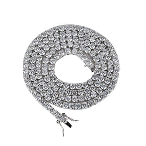 MP iced CZ diamond tennis 6mm necklace