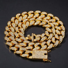 Load image into Gallery viewer, MP Iced out CZ diamond Cuban link 20mm necklace