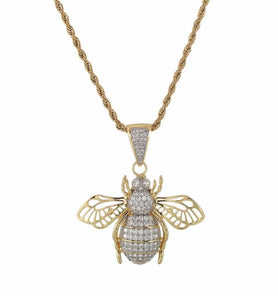 MP Insect iced CZ diamond pendant