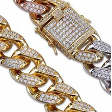Load image into Gallery viewer, MP 3 colour iced CZ diamond 14mm bracelet
