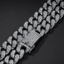 Load image into Gallery viewer, MP Iced out CZ diamond Cuban link 18mm necklace