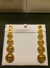 Load image into Gallery viewer, Versace 3D medusa nugget earrings