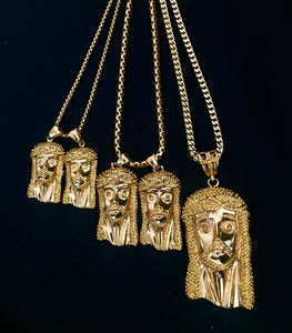 MP JESUS PIECE iced out pendant & necklace
