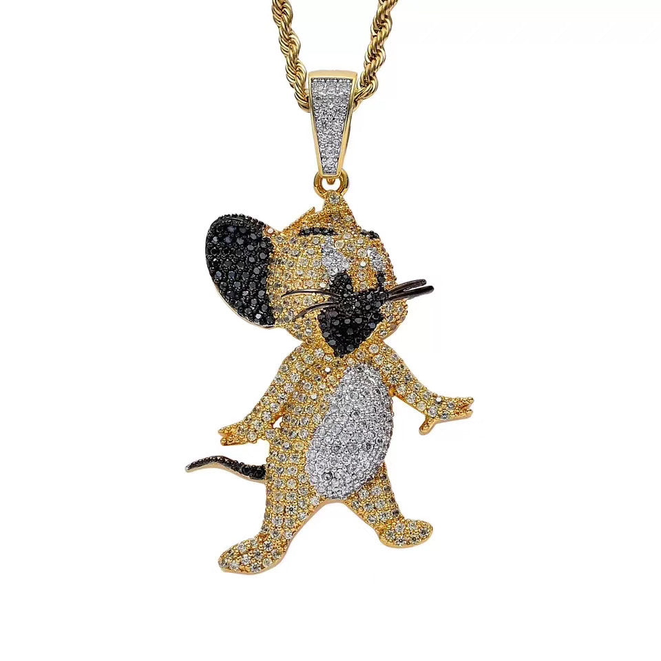MP Jerry iced out CZ diamond pendant