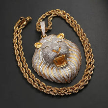 Load image into Gallery viewer, MP Lion CZ diamond pendant