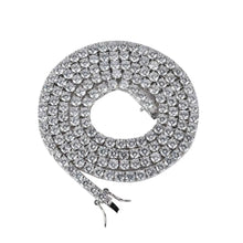 Load image into Gallery viewer, MP iced CZ diamond tennis 4mm necklace