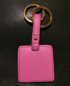 Versace 3D medusa pink square keychain