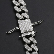 Load image into Gallery viewer, MP Play-boy iced CZ diamond 12mm link necklace