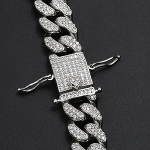 MP Play-boy iced CZ diamond 12mm link necklace