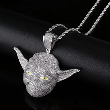 Load image into Gallery viewer, MP Yoda iced CZ diamond pendant