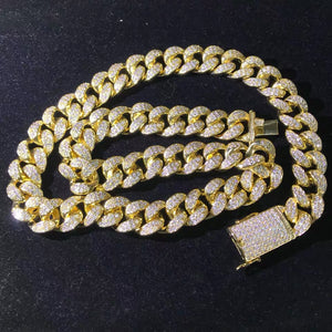 MP Iced CZ diamond Cuban link 18mm necklace