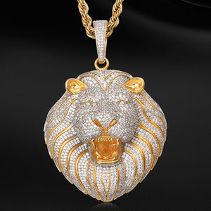 MP Lion CZ diamond pendant