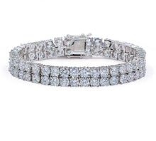 Load image into Gallery viewer, MP Double Tennis chain iced CZ diamond 4mm bracelet
