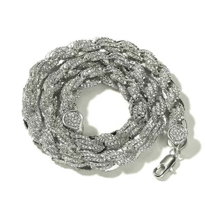 MP Rope iced CZ diamond 9mm necklace