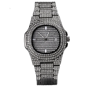 MP Shining iced CZ diamond PP watch