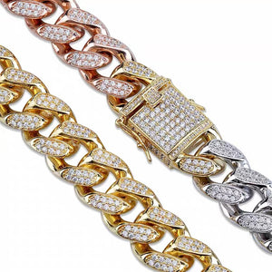 MP 3 colour iced CZ diamond 14mm bracelet