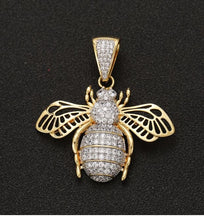 Load image into Gallery viewer, MP Insect iced CZ diamond pendant