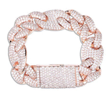 Load image into Gallery viewer, MP Gucci link chain iced CZ diamond 20mm bracelet