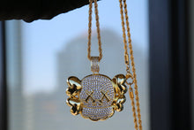 Load image into Gallery viewer, MP KAWS Iced out CZ diamond pendant & necklace