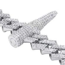 Load image into Gallery viewer, MP AK bullet CZ diamond 14mm necklace