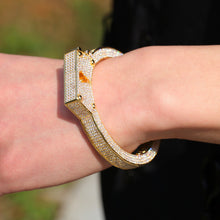 Load image into Gallery viewer, MP Handcuffs Iced CZ diamond cuff bracelet