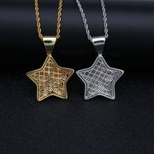 Load image into Gallery viewer, MP Super Mario Star iced out pendant & necklace