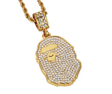Load image into Gallery viewer, MP BAPE CZ diamond pendant & necklace (Regular size)