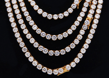 Load image into Gallery viewer, MP 6mm cz diamond tennis necklace