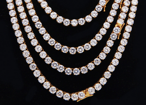 MP 6mm cz diamond tennis necklace