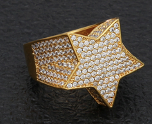 Load image into Gallery viewer, MP Mega star iced CZ diamond ring