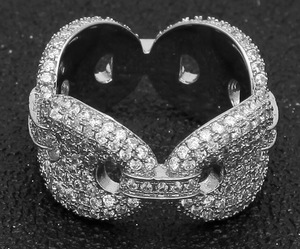 MP cz diamond Gucci link ring