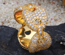 Load image into Gallery viewer, MP cz diamond Gucci link ring